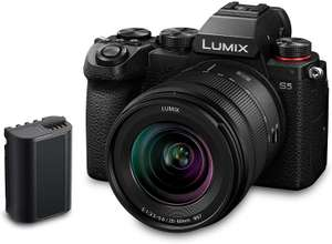 Panasonic LUMIX DC-S5 S5 Full Frame Mirrorless Camera body, 20-60 mm Lens, Plus Additional Battery - £1409 with voucher @ Amazon