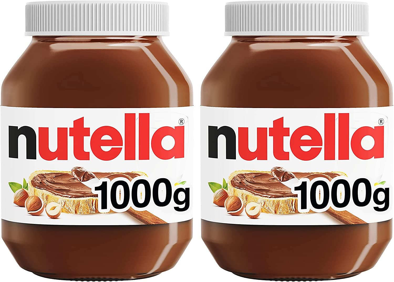 Nutella Hazelnut Chocolate Spread, 1 kg, Pack of 2 - £7.98 Prime / +£4.49 non Prime @ Amazon