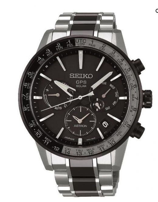 Seiko astron solar gps titanium world time mens watch ssh011j1 £1350 @ GB watch shop