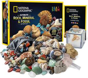 Rocks and Fossils Kit, 200 Piece Set - £24.99 using voucher Sold by National Geographic Science Toys and Fulfilled by Amazon