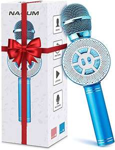 Nasum Wireless Karaoke Microphone Blue Lightning deal - £9.99 Prime / +£4.49 non Prime Sold by Wereody and Fulfilled by Amazon