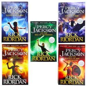 The Percy Jackson Five book collection - £10 + free Click and Collect or £.10.99 del with code @ The Works