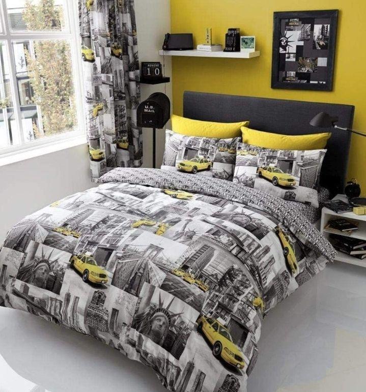 Gaveno Cavailia Luxury NEWYORK PATCH Bed Set With Duvet Cover, King - £9.39 Prime / +£4.49 non Prime @ Amazon