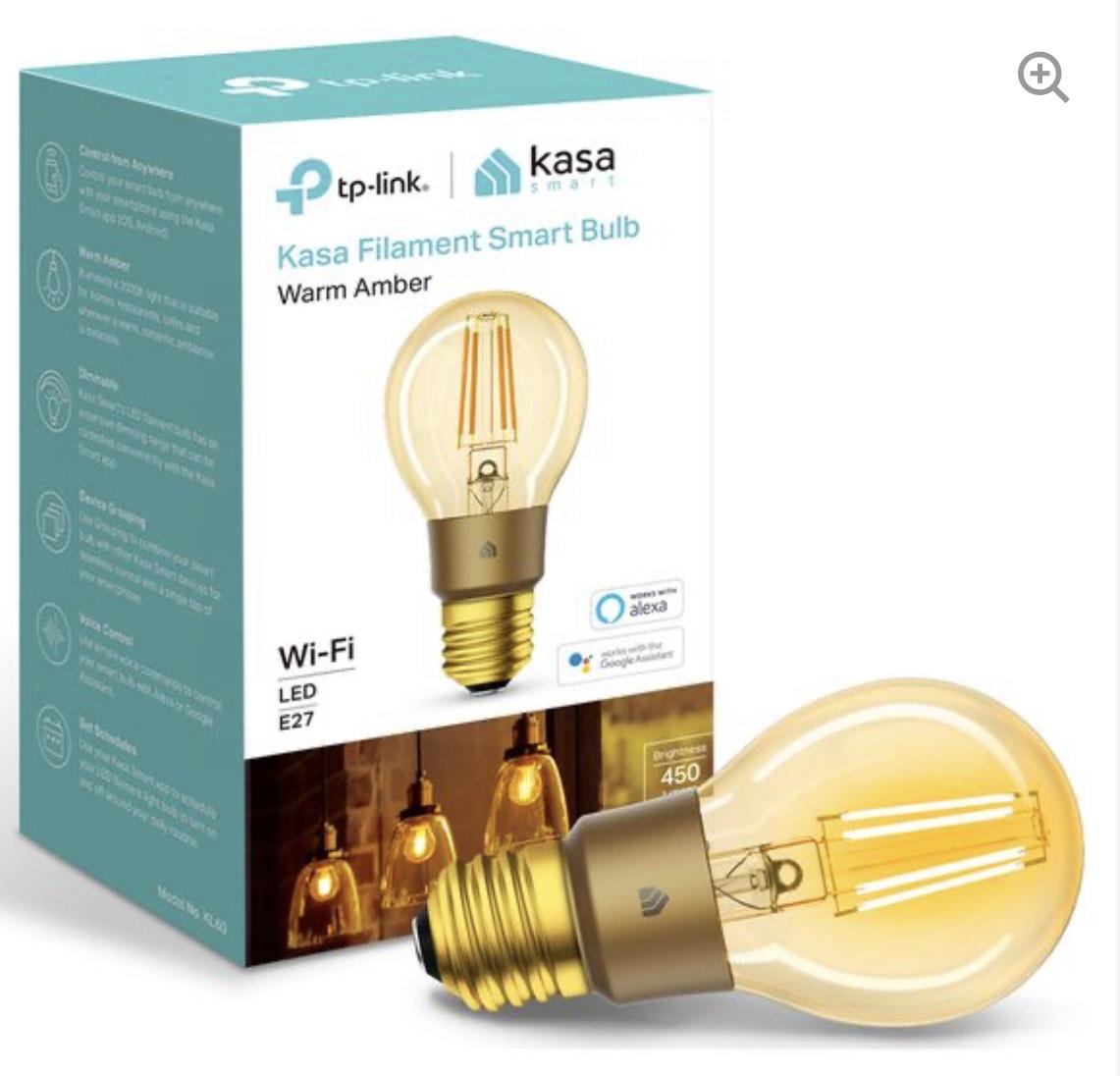 TP-LINK Kasa KL60 Filament Smart Bulb - E27 - £7.97 delivered @ Currys PC World