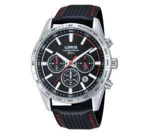 Great looking Lorus quartz chronograph sports watch with red accents and only 41mm! £39.99 at Rubicon Watches