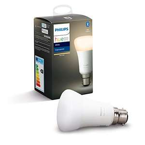 Philips Hue White B22 Works with Alexa and google £5.88 + £4.49 NP Used - Like New @ Amazon Warehouse