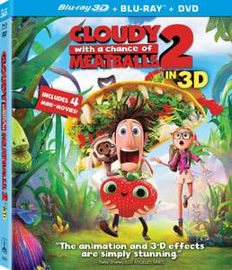 Cloudy WIth A Chance Of Meatballs 2 3D Nordic Import : (Blu-ray, 2014) New Sealed - £2.85 @ warne-trading-group/ebay