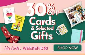 30% off cards and selected gifts with code @ Funky Pigeon