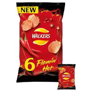 Walkers Flamin Hot Multipack Crisps 6x25g - £1.00 (Minimum Basket / Delivery Fee Applies) @ Asda