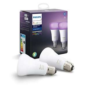 Philips Hue White and Colour Ambiance Smart Bulb Twin Pack - £67.99 @ Amazon