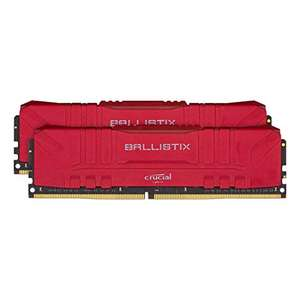 Crucial Ballistix 3000MHz, DDR4, Desktop Memory Kit, 32GB (16GB x2), CL15, Red - £135.12 @ Amazon