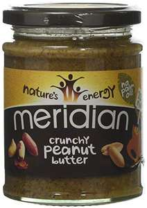 Meridian Natural Crunchy Peanut Butter - No Added Sugar and Salt 280 g (Pack of 6) £9 Prime (+£4.49 non Prime)