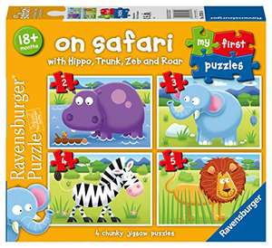 Ravensburger On Safari My First Jigsaw Puzzles (2, 3, 4 and 5 Piece) £2.34 Prime at Amazon (+£4.49 non Prime)
