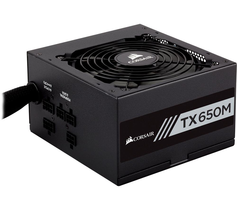 Corsair TX650M 650W Semi-Modular 80+ Gold PSU, £62.99 with code at Currys PC world