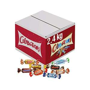 Celebrations Chocolate Bulk Box, (Maltesers, Galaxy, Snickers and More), 2.4 kg £15.91 Prime (+£4.49 non Prime)