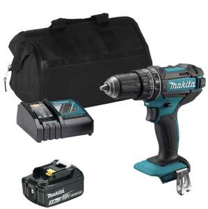 Makita DHP482 18V LXT Combi Drill with 1x 3Ah Battery, Charger and Bag £107.99 at ITS