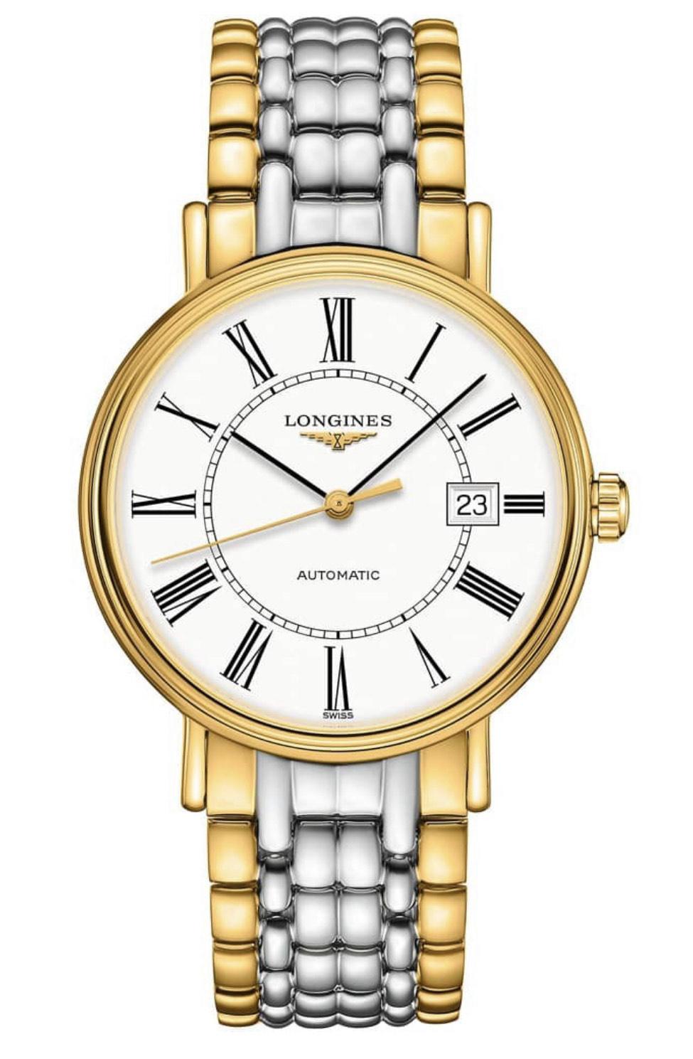 Longines Presence Men's Swiss Automatic 40mm Two Tone Bracelet Watch £731 at Ernest Jones