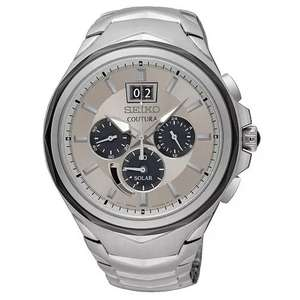 Seiko Coutura Chronograph SSC627P9 white face, solar powered watch £119.99 with code at H Samuel