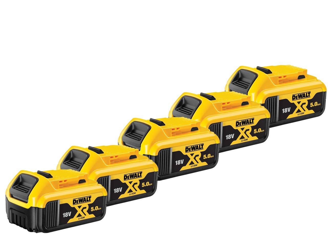 DeWalt DCB184X5 Pack of 5 18v 5Ah XR Li-Ion Batteries £248 at FFX
