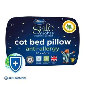Silent Night Anti-Allergy Cotbed Pillow - £3.75 (Clubcard) @ Tesco