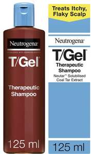 Neutrogena T/Gel Therapeutic Shampoo Treatment for Scalp Psoriasis, Itching Scalp and Dandruff 125ml £3.74 Prime (+£4.49 NP) @ Amazon
