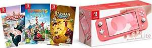 Switch Lite + Sports Party,Monopoly and Rayman £228.96 at Amazon