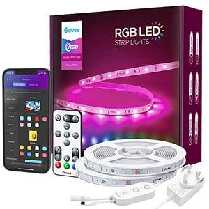 Govee 15m Smart WiFi LED RGB Strip Lights with Alexa/Google Assistant control £33.09 Sold by Govee UK and Fulfilled by Amazon