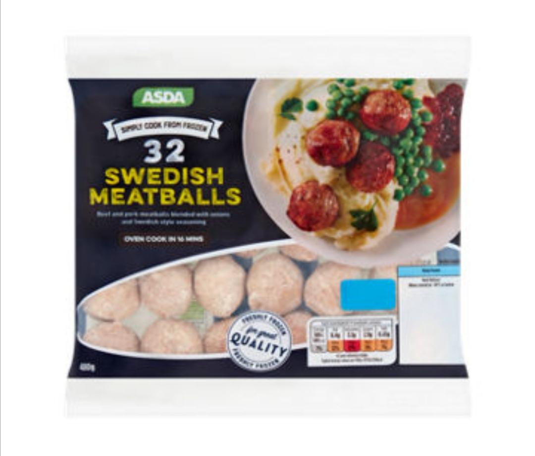 Asda Swedish Meatballs 480g 45p instore @ Asda Bradford
