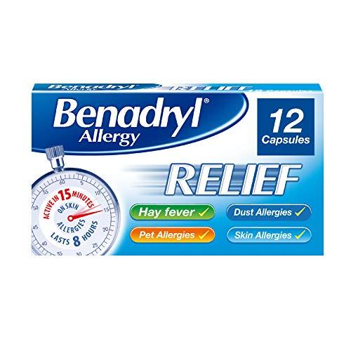 Benadryl Allergy Relief Capsules - Fast-Acting Antihistamine Capsules - 12 capsules £2.69 Amazon Prime (+£4.49 Non Prime)