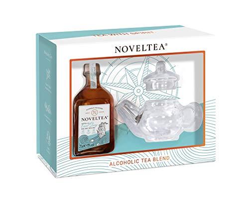 NOVELTEA Small Tea Pot Gift Set - Premium Earl Grey Tea & Gin with Teapot - 25cl, 11% £11.59 (+£4.49 Non Prime) @ Amazon