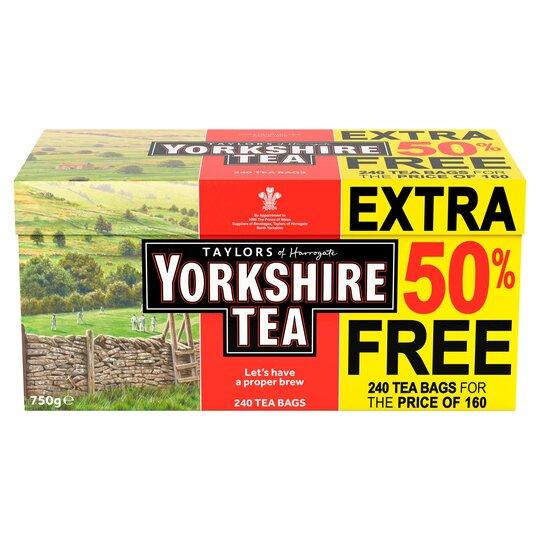 240 Yorkshire Tea for £4 in Morrisons