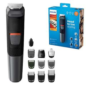 Philips 11-in-1 All-In-One Trimmer, Series 5000 Grooming Kit for Beard, Hair & Body with 11 Attachments, £27.80 at Amazon