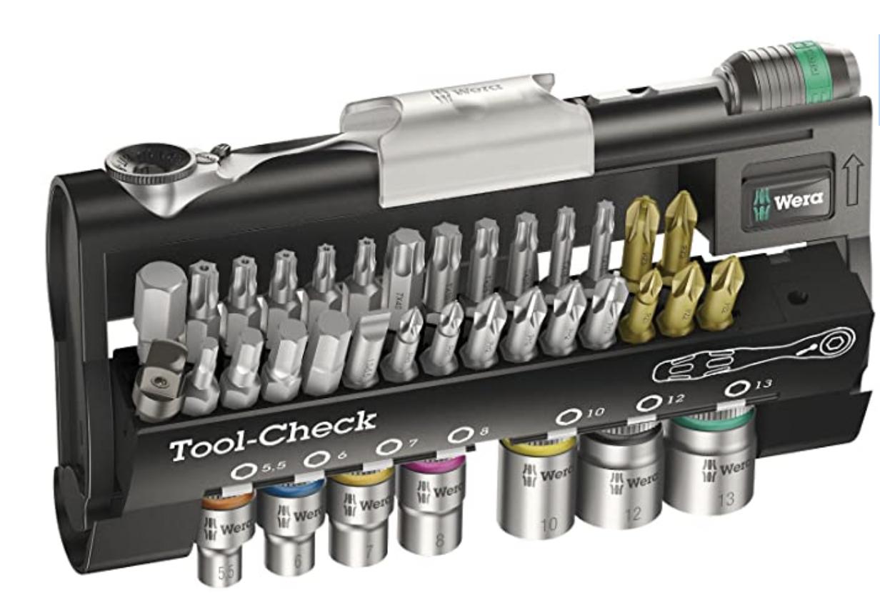 Wera Tool-Check 1 SB Zyklop Mini bit-ratchet, screwdriver, bits & socket set, 38pc - £46.78 (Mainland UK) - Sold by Amazon EU @ Amazon