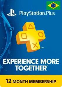 PlayStation Plus PS+ 12 month membership [Brazil PSN account required] £16.99 @ CDKeys