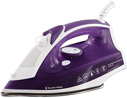 Russell Hobbs Supreme Steam Traditional Iron 23060, 2400 W, Purple/White - £11.71 prime /+£4.49 non Prime @ Amazon