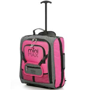 Aerolite Mini Max Childrens Trolley Bag with Toy Pouch Pink - £14.99 (Free Collection / £4.95 Delivery) @ Robert Dyas