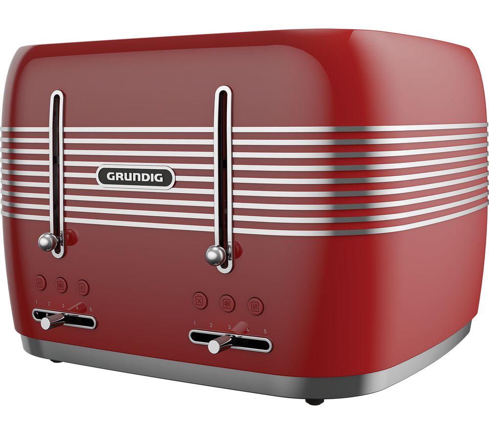 GRUNDIG TA7870R 4-Slice Toaster - Red £29.99 Currys PC World