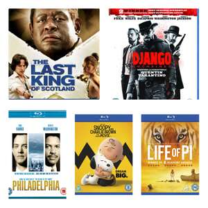50% off selected blu rays using code (Last King of Scotland £2.49) @ HMV free click and collect