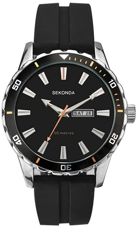 SEKONDA Unisex-Adult Analogue Classic Quartz Watch with Rubber Strap 1351.27 - £24.99 @ Amazon