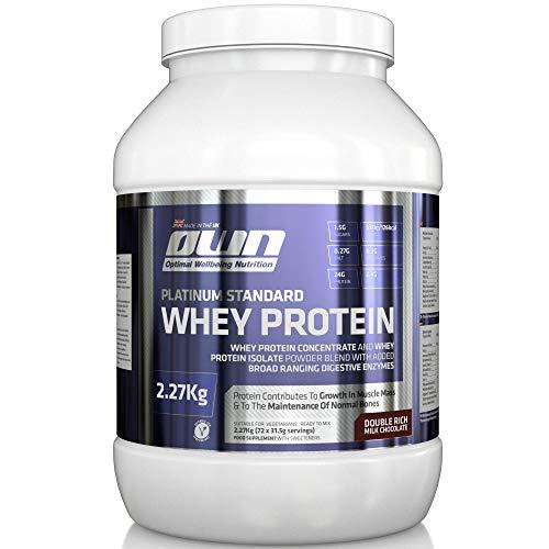 OWN - Platinum Standard Whey Protein Muscle Building Supplement, Double Rich Milk ChocolateFlavour, £11.10 Amazon Prime / £15.59 Non Prime