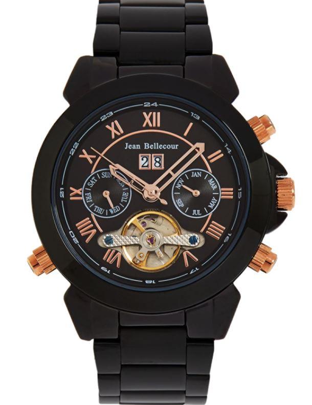 JEAN BELLECOUR Black Skeleton Chronograph Watch £79.99 at TK Maxx