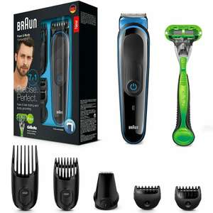 Braun 7 in 1 Face & Body Multi Groomer (MGK3042) £17.99 using code @ MyMemory