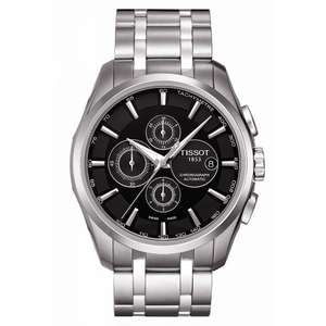 Tissot Couturier automatic chronograph Stainless Steel Bracelet Men's Watch £467.50 with code at Ernest Jones