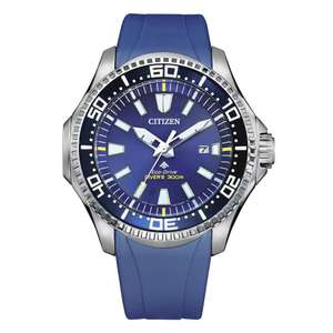 Citizen Promaster Diver Blue Rubber Strap Watch £135.20 delivered with code at H Samuel