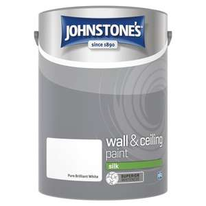 5L Johnstone's Wall and Ceiling Silk Paint Pure Brilliant White £7.50 at Tesco, Stow on the Wold, Gloucestershire.