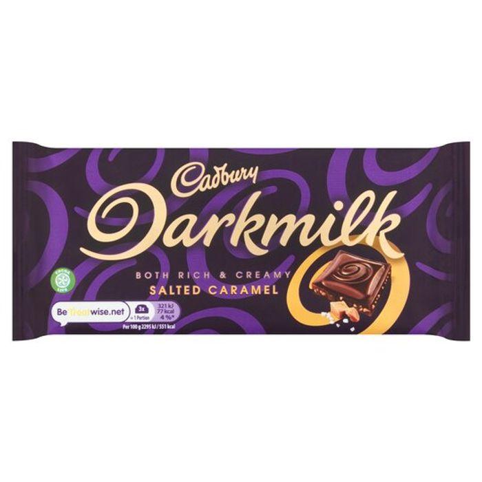 Cadbury Dark Milk Salted Caramel 85G £1 club card price @ Tesco