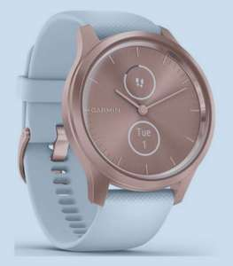 Garmin Vivomove Style Hybrid Smartwatch - White Silicone Strap with Rose Gold Hardware £189.99 at Very