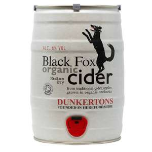 Dunkertons Organic Black Fox Cider 5L Mini Keg 2 for £45 at Co-op (possible £40.50 with NUS Card) at Co-op Moreton in Marsh Store