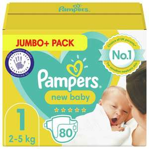 Pampers New Baby Jumbo Pack Nappies - size 1, 2 or 3 now £4.99 (Minimum Basket / Delivery Fee Applies)@ Morrisons