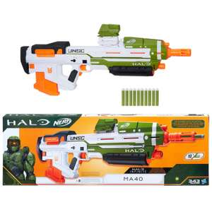 Nerf Halo MA40 Blaster Gun for £35.99 at IWOOT (use code)
